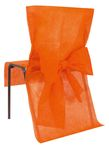 HOUSSE DE CHAISE NOEUD ORANGE