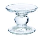 BOUGEOIR EN VERRE TRANSPARENT 11 CM